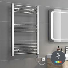 800x500mm Chrome Thermostatic Electric Towel Radiator