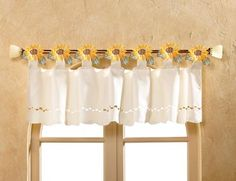 Country Sunflower Tab Top Window Valance
