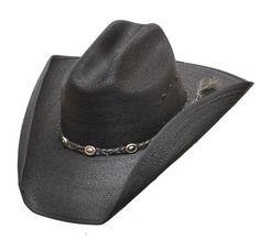e66e66982c0 Black Western Cattleman Cowboy Hat Palm Leaf Rope Band Super Top QualitySz  XL