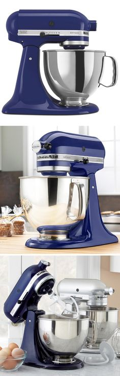 KitchenAid Artisan Stand Mixer in blue // get in my kitchen, now! http://www.slideshare.net/JaimePalmerr/best-hand-mixer-kitchen-top-choice