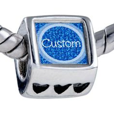 Pugster Bead Blue Texture Circle Custom European Charm Bead Fits Pandora Bracelet Pugster. $15.99. Hole size is approximately 4.8 to 5mm. Unthreaded European story bracelet design. Fit Pandora, Biagi, and Chamilia Charm Bead Bracelets. Add the words you want on the Fit pandora charms. Bracelet sold separately