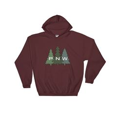 """""""PNW Trees"""" Sweatshirt Hoodie"""