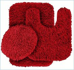 Santa Red Bathroom Rugs Set Pinterest And House