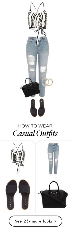 """""""casual boyfriend jeans"""" by kimberlynglam on Polyvore featuring Alice + Olivia and Givenchy"""