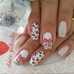 New Years Nail Art, Cherry Nails, New Year's Nails, Chinese New Year, Beauty, Make Up, Recipes, Nail Designs, Flowers