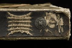 """Kopert"" or limp vellum binding: Reinforced spine    Photo: István Borbás/National Library of Sweden    Limp vellum binding with a reinforced spine of brown leather. Prague 1398.  The manuscript is doubtless part of the spoils from the storming of Prague in 1648."