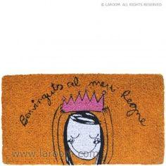"""Laroom - Felpudo naranja """"el meu regne"""" - Laroom dissenya i fabrica productes per a la llar i la vida - www.laroom.com"""