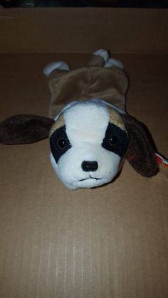 64f43434dcd Extremely Rare Retired Ty original Bernie beanie baby with Hoppityhang tag.