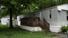 Remodel mobile home to look like a house
