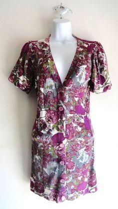 Anthropologie Twelve by Twelve Floral Flower Sweater Cardigan Jacket Medium M #TwelvebyTwelve #Cardigan