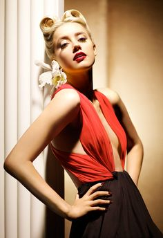photoshoot of models in red | Amber Heard Red Big Boobs Cleavage Photoshoot 2013