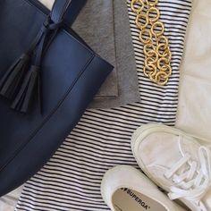 #ootd | #gap dress | #supergausa sneakers | #oldnavy handbag | #jcrewfactory necklace #Padgram