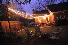 Backyard Lighting, Outside Lighting Ideas, Backyard String