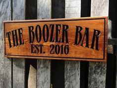 Rustic wooden Man cave bar sign  Personalized  Pub by MVwoodworks