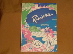 Vintage Riviera Restaurant Menu, circa 1940