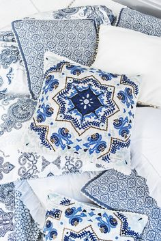 Odd Molly | Home | Interior | Pillowcase | White and blue | Campaign | Scandinavian interiors | oddmolly.com