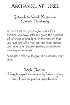 Archangel Uriel | back | Mystic Angels Oracle 31