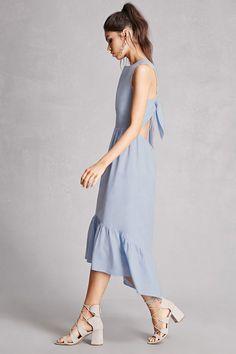High-Low Chambray Dress