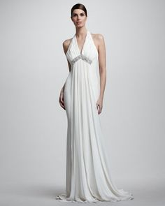 Draped Halter Chiffon Gown by Notte by Marchesa at Bergdorf Goodman.