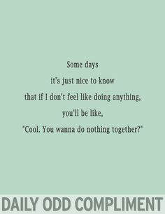 Do nothing together