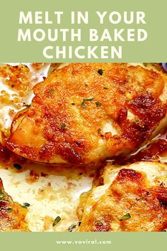 Melt in Your Mouth Baked Chicken and Ukrainian Mushroom Soup with Potatoes - Recipes Souf Cooked Chicken Recipes, Turkey Recipes, Baked Chicken, Pork Recipes, Cooking Recipes, Healthy Recipes, Cracker Chicken, Chicken Meals, Lemon Chicken