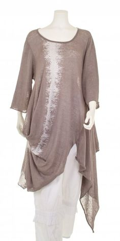 Kokomarina Gorgeous Latte Fine Linen Knit