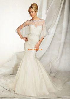 Frühling 2014 Herz-Ausschnitt 3/4 Arm Brautkleider 2014