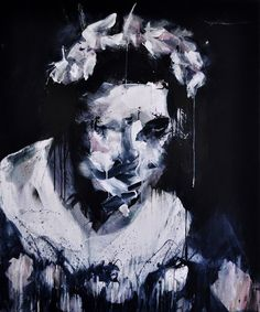 Saatchi Online Artist: Miroir Noir; Acrylic, 2013, Painting I want to marry you
