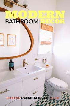 bathroom decorating ideas on a budget -- More info could be found at the image url. Decorating Your Home, Decorating Ideas, Getting Rid Of Clutter, New Interior Design, Modern Bathroom Decor, Cool Lighting, Decorative Items, Design Projects, Design Elements