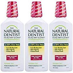 The Natural Dentist Healthy Gums Mouth Wash, Peppermint Twist, Ounce Bottle (Pack of Best Mouthwash, Homeopathy, Whitening, Peppermint, Pregnancy, Treats, Homemade, Bottle, Healthy
