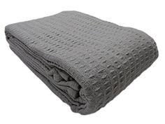 Cozy Fleece -  Santa Barbara Waffle Weave Cotton Blanket, Full/Queen, Gray Cozy Fleece http://www.amazon.com/dp/B00HNY7HG6/ref=cm_sw_r_pi_dp_eXztub163F4JQ