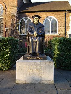 St. Thomas More, beheaded beacuse he refused to sign a document making Henry VIII head of the Church in England. It was the time when he wanted to marry Anne Boleyn and the Pope wouldn't void his first marriage to Catherine of Aragon.