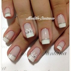 See more about wedding nails, nail arts and toe nails. Bridal Nails Designs, Bridal Nail Art, Wedding Nails Design, Nail Designs, No Chip Nails, My Nails, French Nails, Indian Nails, Trendy Nail Art