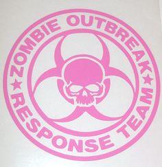 ZOMBIE OUTBREAK RESPONSE Team Skull Logo Vinyl Car Decal Sticker. $4.00, via Etsy.