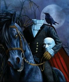 Headless Horseman (The Legend of Sleepy Hollow, Washington Irving)-halloween Halloween Horror, Spooky Halloween, Vintage Halloween, Happy Halloween, Halloween Scene, Samhain, Legend Of Sleepy Hollow, Headless Horseman, Neue Tattoos