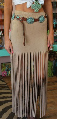 Dance All Night Suede Fringe Skirt - The Lace Cactus