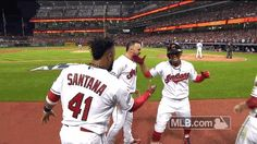 mlb baseball celebration alds cleveland indians game 1 #humor #hilarious #funny #lol #rofl #lmao #memes #cute