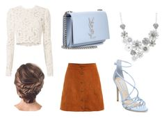 """""""Babyblue and camel colour"""" by karppila-julia on Polyvore featuring A.L.C., Yves Saint Laurent, Steve Madden and Bold Elements"""