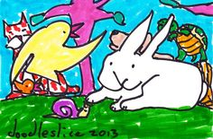 original drawing  The Swift and the Slow by doodleslice on Etsy, $50.00