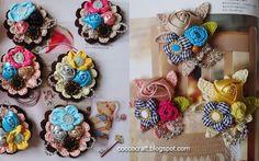 10 Ideas Crochet flower Accessories