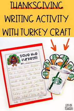 A fun and engaging Thanksgiving activity for students to practice opinion writing. This Thanksgiving writing activity includes a Thanksgiving craft that you can use as your Thanksgiving bulletin board. Students get to work on this turkey disguise project during writing time after they read a Turkey book. Students work through the writing process. Students use a Thanksgiving writing prompt to guide their thinking and then use a checklist to edit and revise their writing.