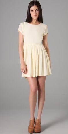 basic dress, woven cotton