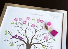 Cute alternative to thumbprint tree--less mess probably.