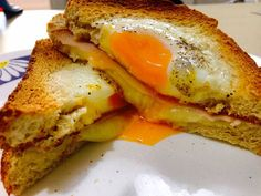 """My tasteful breakfast 🌞 French Toast, Sandwiches, Eggs, Breakfast, Instagram Posts, Food, Morning Coffee, Essen, Egg"
