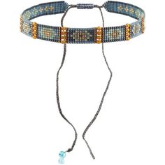 Mishky Embellished Choker ($52) ❤️ liked on Polyvore featuring jewelry, necklaces, choker, blue, blue necklace, bead jewellery, choker necklace, blue bead necklace and beading jewelry #accessories #jewelrygram #jewelryinspo #cbloggers #beadlove