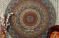 Hippie Hippy Wall Hanging Indian Mandala Tapestry by Adishwar