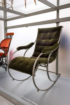 Steel rocking chair