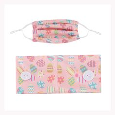 Kids Headband and Face Mask Sets - Pink Eggs