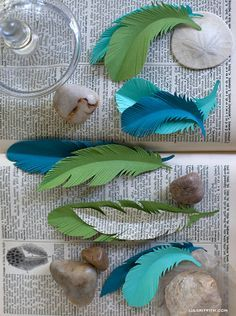 how to make paper feathers. | best stuff