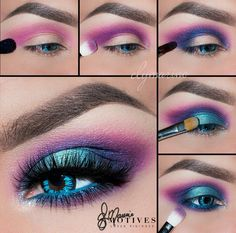 Purple Eye Makeup Electric Neon Turquoise Blue Purple Pink Eye Makeup Purple Eye Makeup Easy Eyeshadow Tutorial Purple And Light Pink Charlotta Eve. Purple Eye Makeup Purple Eye Makeup Beautiful Eye Makeup Close Up. 80s Eye Makeup, 80s Makeup Trends, Makeup Inspo, Eyeshadow Makeup, Makeup Inspiration, Makeup Tips, Makeup Ideas, Makeup Products, Makeup Brushes